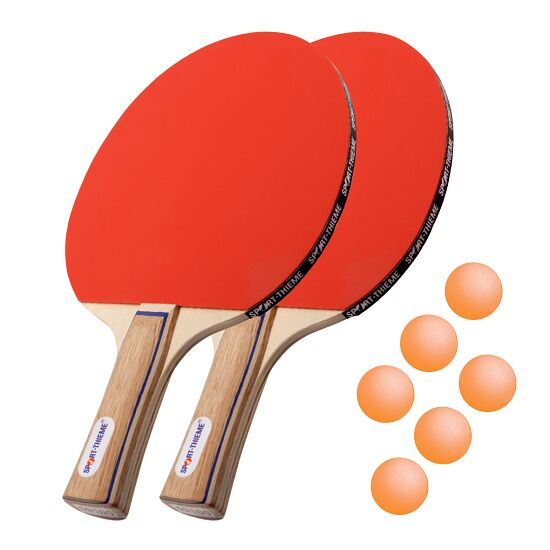"Bordtennisracket Sport-Thieme ""Paris"" i set Orange bollar"