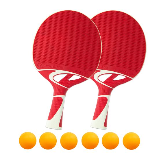 "Bordtennisracket ""Tacteo 50"" i set Orange bollar"