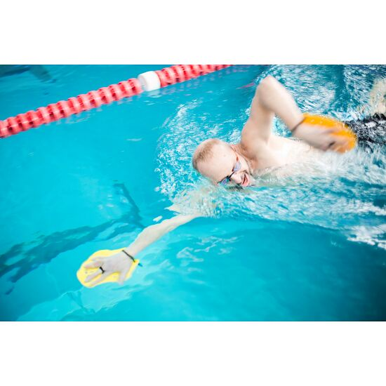 Sport-Thieme® Swim-Power®-paddlar Stl. M: 21 x 18 cm, gul