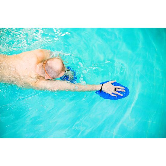 Sport-Thieme® Swim-Power®-paddlar Stl. XL: 24 x 20 cm, blå